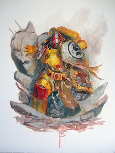 Imperial Fist-Acrylics by DiegoGisbertLlorens.deviantart.com on @deviantART
