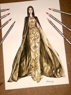 Fashion Figure Drawing, Fashion Drawing Dresses, Fashion Illustration Dresses, Fashion Dresses, Dress Design Sketches, Fashion Design Drawings, Fashion Sketches, Couture Fashion, Fashion Art