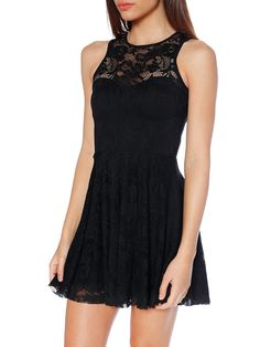 Black Lace Skater Dress - LIMITED (WW $90AUD / US $72USD) by Black Milk Clothing