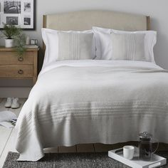 Chartwell Throw & Cushion Covers | New In | Bedroom | The White Company UK