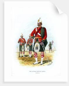 Giclee Print: The Royal Scots of Canada, Montreal, by H Bunnett : Canadian Army, Canadian History, British Army, Highlanders, Tropical Art, World War One, Figurative Art, Montreal, Find Art