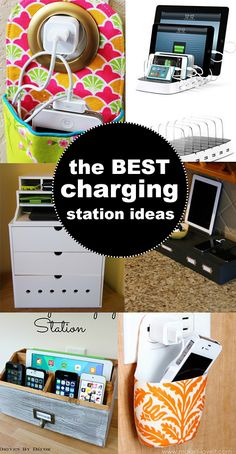 The BEST charging station ideas!