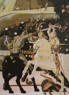 Paolo Uccello, The Battle of San Romano (detail), c. 1438-40, London NG