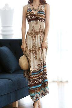 Crochet Flower V-Neck Floral Pattern Color Block Casual Dress For Women