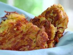 Hash Brown Patties...... no more of the yucky hydrogenated oils! I bet you could freeze these then reheat in toaster.