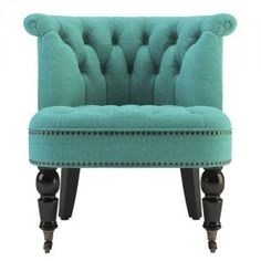 Beautiful Petal Turquoise & Black Helene Accent Chair || Temple & Webster