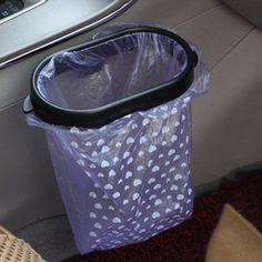 New Car Trash Garbage Bag Sucker Trash Can Rack Hanger Supplies FI