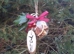Yule Witch Ball  Winter Solstice Decor  Tree by PurpleCrystalWitch