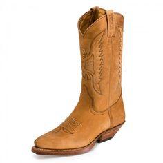 17269 Bota Piel Beige #Sendra #Outlet #Boots
