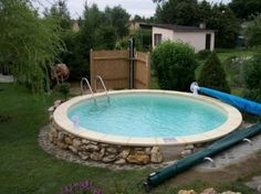 Intex frame pool in erde einlassen ideas for the house pinterest backyard ground pools - Stahlwandpool in erde einlassen ...
