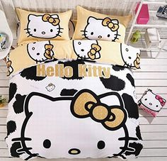 FADFAY 4Pcs Hello Kitty Bedding Sets Cute Cartoon Cotton ... https://www.amazon.com/dp/B01DU3TRQG/ref=cm_sw_r_pi_dp_2-eFxb309PDX0