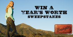 Enter for a chance to Win a Year of Wranger Jeans & Shirts Sweepstakes - Coupon Hauls