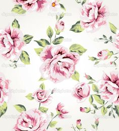 seamless vintage flower pattern vector | Hd Wallpapers Free Downloads