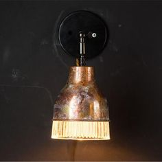 Beautiful Unique Distressed Copper and Glass Wall Light Glass Wall Lights, Bathroom Wall Lights, Barn Lighting, Outdoor Wall Lighting, Copper Wall Light, Moss Wall, Outdoor Wall Lantern, Room Lights, Clear Glass