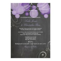 PixDezines chalkdboard purple lanterns/ Personalized Announcements