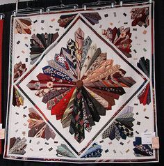 Save your old neckties and make a quilt ...... this is very cool!