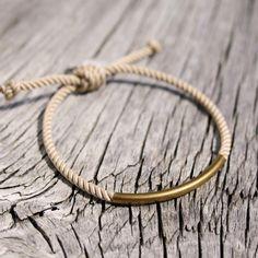 rope + brass #bracelet