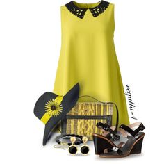 Neon Yellow by regatta-1 on Polyvore featuring AX Paris, Kate Spade, McQ by Alexander McQueen, David Yurman, Brooks Brothers, Topshop, yellow and neon
