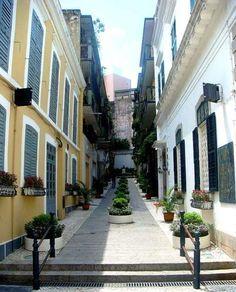 Macau Style Street, a photo from Macau, South, CHINA.    (TrekEarth)