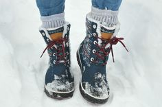 Keen Elsa winter snow boots on a woodland walk in Tignes snow style via The Girl Outdoors http://thegirloutdoors.co.uk/2016/02/08/keen-elsa-boots/