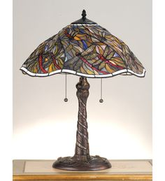 23.5 Inch H Spiral Dragonfly & Mosaic Table Lamp Table Lamps