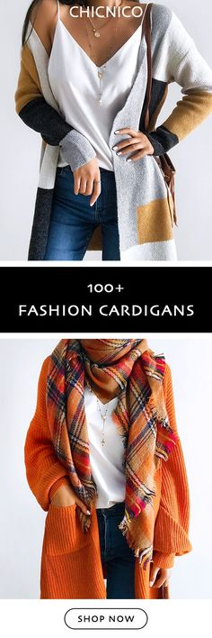 2018 Fashion Fall Outfits Cardigans Must Have Autumn Fashion 2018, Fall Fashion Outfits, Fall Winter Outfits, Casual Outfits, Cute Outfits, Womens Fashion, Fasion, Trendy Fashion, Summer Dress