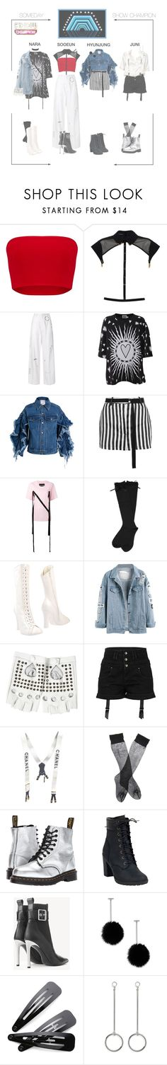 """DILAD (딜라드) 'SOMEDAY' Show Champion"" by dilad-official ❤ liked on Polyvore featuring Tatu Couture, Hyein Seo, FAUSTO PUGLISI, Ashish, Ann Demeulemeester, Nicopanda, Rochas, River Island, Brandy Melville and Chanel"