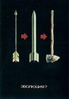 Soviet Anti-War Posters, 1960s-1980s  Evolution? #art #illustration #poster #eyeli