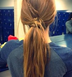 braid with ponytail