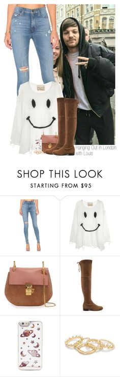 """""""Hanging Out in London  with Louis"""" by sophie-188 ❤ liked on Polyvore featuring Hudson Jeans, Wildfox, Chloé and Stuart Weitzman"""