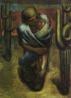 Madre Campesina. 1929.  Óleo sobre arpillera. 249 x 180 cm.   Museo de Arte Moderno, México, México.