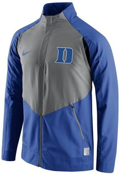 Zip up a gameday-worthy look this Nike Duke Blue Devils jacket. PRODUCT FEATURES Dri-FIT Zip front 2-pocket Long sleeves Polyester Machine wash Imported