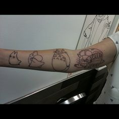 My Neighbor Totoro Tattoos
