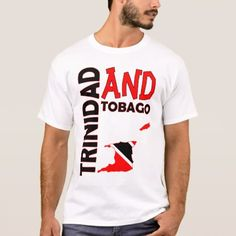 Shop Trinidad and Tobago Flag Map T-Shirt created by trinistuff. Trinidad Map, Trinidad And Tobago Flag, Types Of T Shirts, Funny Tshirts, Kids Outfits, Fitness Models, Casual, Sleeves, Mens Tops