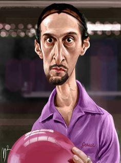 Caricatura de John Turturro en El gran Lebowski