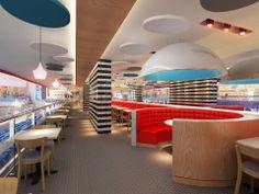Pizza Express by Splyce Interior Design Dubai Mall, Dubai