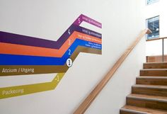 SubwayfindingRalston & Bau's wayfinding system for a Norwegian office building takes inspiration from the underground signage systems of London, Paris, and New York. Environmental Graphic Design, Environmental Graphics, Architectural Signage, Navigation Design, Wayfinding Signs, Signage Design, Design Graphique, Environment Design, Orient