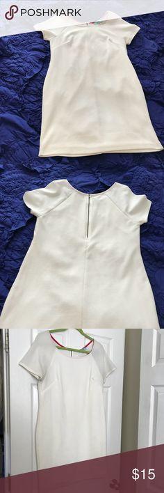 karlie White short sleeve dress karlie White short sleeve dress, zipper in back, great for bride/wedding events or spring and summer events karlie Dresses