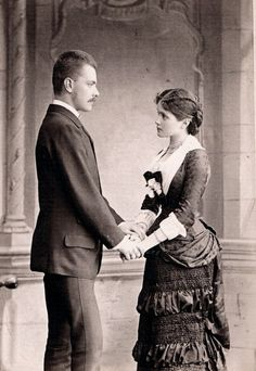 Tempus fugit....mors venit... - c. 1879 engagement photo