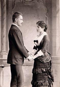Tempus fugit....mors venit... - c. 1879 engagement photo