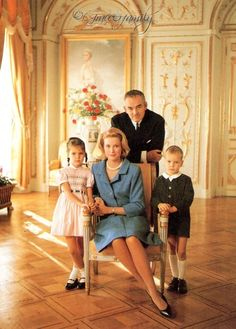Prince Rainier and Princess Grace, with Princess Caroline and Prince Albert - 1965