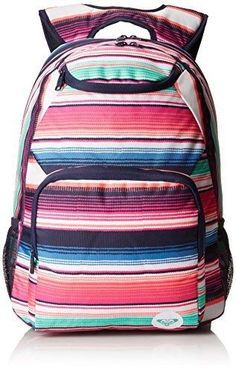 Roxy Juniors Shadow Swell Girls Backpack, Ocean Blush Peacoat, One Size #Roxy #Backpack