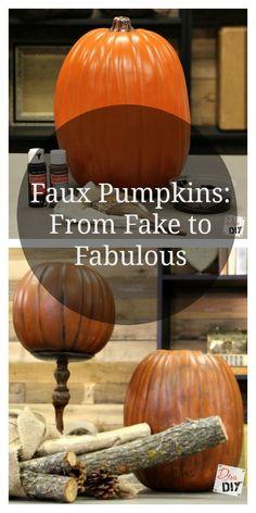 faux pumpkins fake to fabulous - Fake Halloween Pumpkins