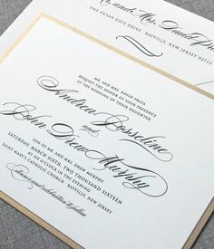 A Chic  sophisticated wedding invitation. I'm in love!