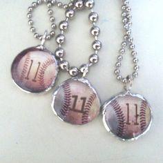 Baseball necklace
