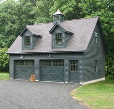 Love everything about this Kloter Farms 24 x 28 SmartSide garage. With a full second story, this garage has quite the potential. Looks like the pets are excited too! Garage Apartment Plans, Garage Apartments, Apartment Layout, Apartment Design, Plan Garage, Garage Exterior, Garage Shed, Dream Garage, Garage Shop Plans