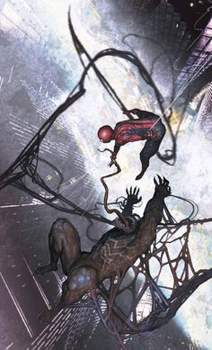 #Spiderman #Fan #Art. (Spiderman vs Venom) By: Rock-He Kim. (To watch the end of Venom and Spidy's best friend Harry aka little Goblin, simply tap the URL below while in your browser:  https://m.youtube.com/watch?v=almPLyhYxvc (THE * 5 * STÅR * ÅWARD * OF: * AW YEAH, IT'S MAJOR ÅWESOMENESS!!!™)[THANK Ü 4 PINNING<·><]<©>ÅÅÅ+(OB4E)