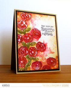 Flower Card by October Guest Designer Karen Baker | Garden Starter Stamp set by Newton's Nook Designs #newtonsnook