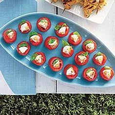 Mozzarella-Stuffed Cherry Tomatoes   MyRecipes.com