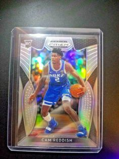2019-20 Panini Prizm Draft #74 Cam Reddish RC Rookie Duke Blue Devils Basketball Trading Card
